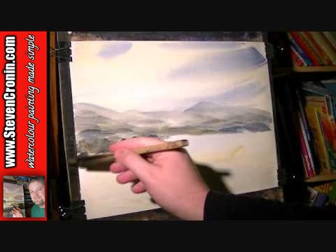 Buckland-in-the-Moor Watercolour Landscape Painting Demonstration Part 1 of 2