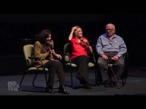 Cloris Leachman with Valerie Harper and Ed Asner at the 2017 Sedona International Film Festival