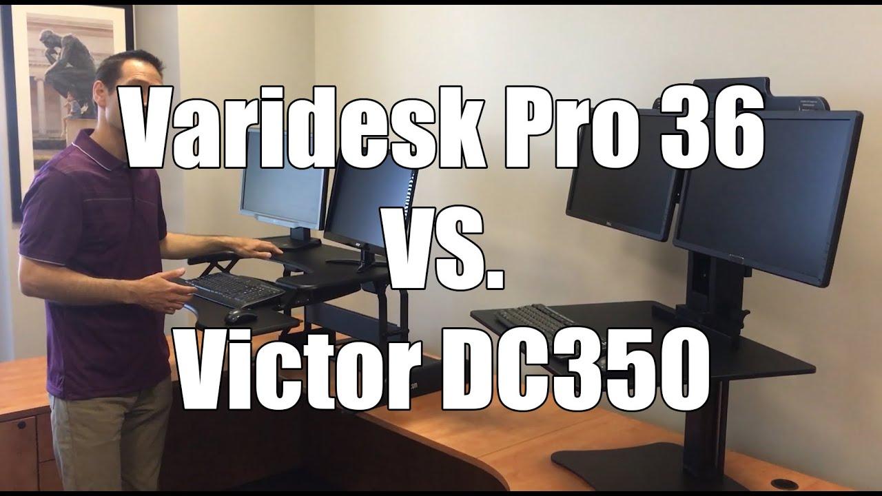 Varidesk review standing desks epic reviews - Standing Desk Review Varidesk Pro Vs Victor Dc350 Sit Stand Desk Youtube