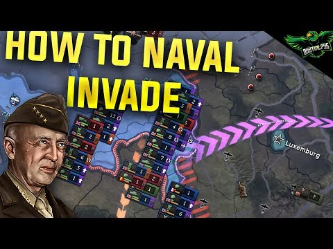 HOI4 How to Naval Invade (Hearts of Iron 4 Man the Guns Guide) - YouTube