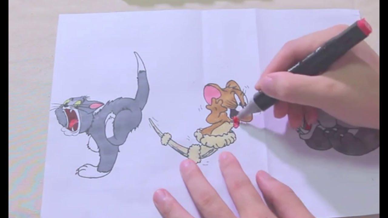 Hướng Dẫn Vẽ Mèo và Chuột I How To Draw A Tom and Jerry