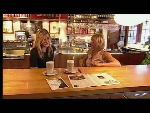 """Dina Rosenmeier at """"Go' Morgen"""" morning TV in Denmark, Summer 2008"""