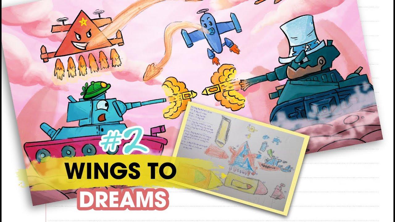 Chắp cánh ước mơ #2   Vẽ tranh trẻ em   Wings to Dreams #2   Painting a kid's drawing   Doodle Art