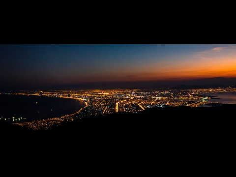 DANANG, VIETNAM TRAVEL - Danang overview, day to night timelapse