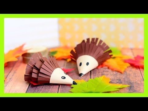 Hedgehog Paper Craft for Kids - fall craft idea for kids