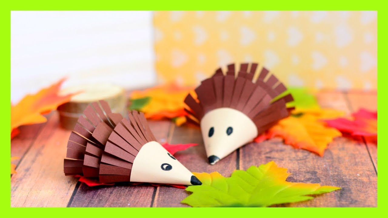 Hedgehog Paper Craft For Kids Fall Craft Idea For Kids Youtube