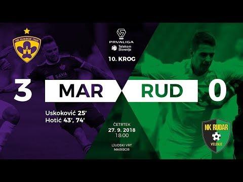 10.krog: Maribor - Rudar 3:0 ; Prva liga Telekom Slovenije 2018/2019