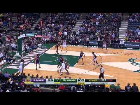 Los Angeles Lakers vs Milwaukee Bucks | March 27, 2014 | NBA 2013-14 Season