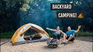 Camping in our Backyard! ⛺🌲| Tнe BEST campfire dessert + our favorite camping gear!