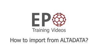 2.6 How to import from ALTADATA?