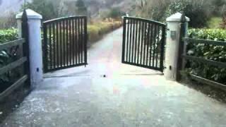 Modern Design Galvanised And Powder Coated Steel Gate