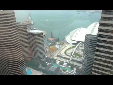 Hong Kong island view from Central Plaza tower c