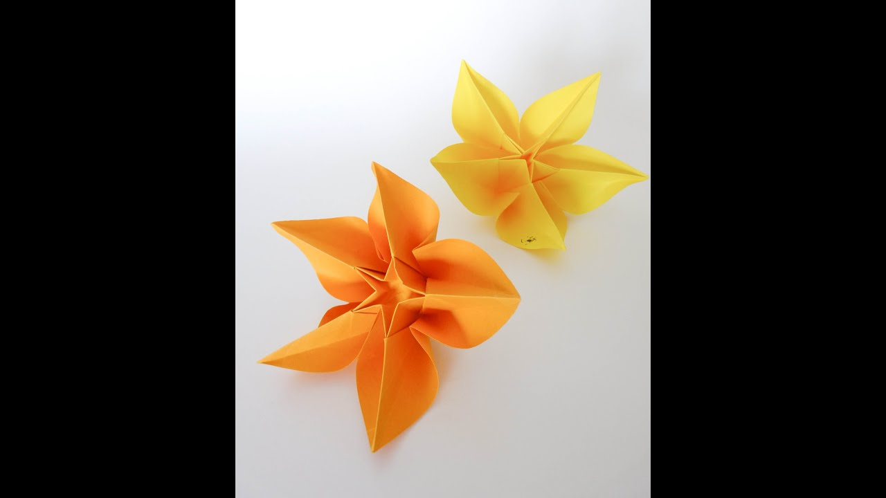 Origami Tutorialcarambola Flower Carmen Sprung Youtube