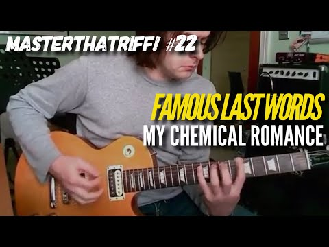 """""""Famous Last Words"""" by My Chemical Romance - Guitar Lesson w/TAB - MasterThatRiff! 22"""