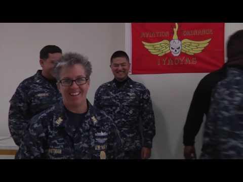 U.S. Pacific Fleet Master Chief Suz Whitman visits service members in Iwakuni, Japan
