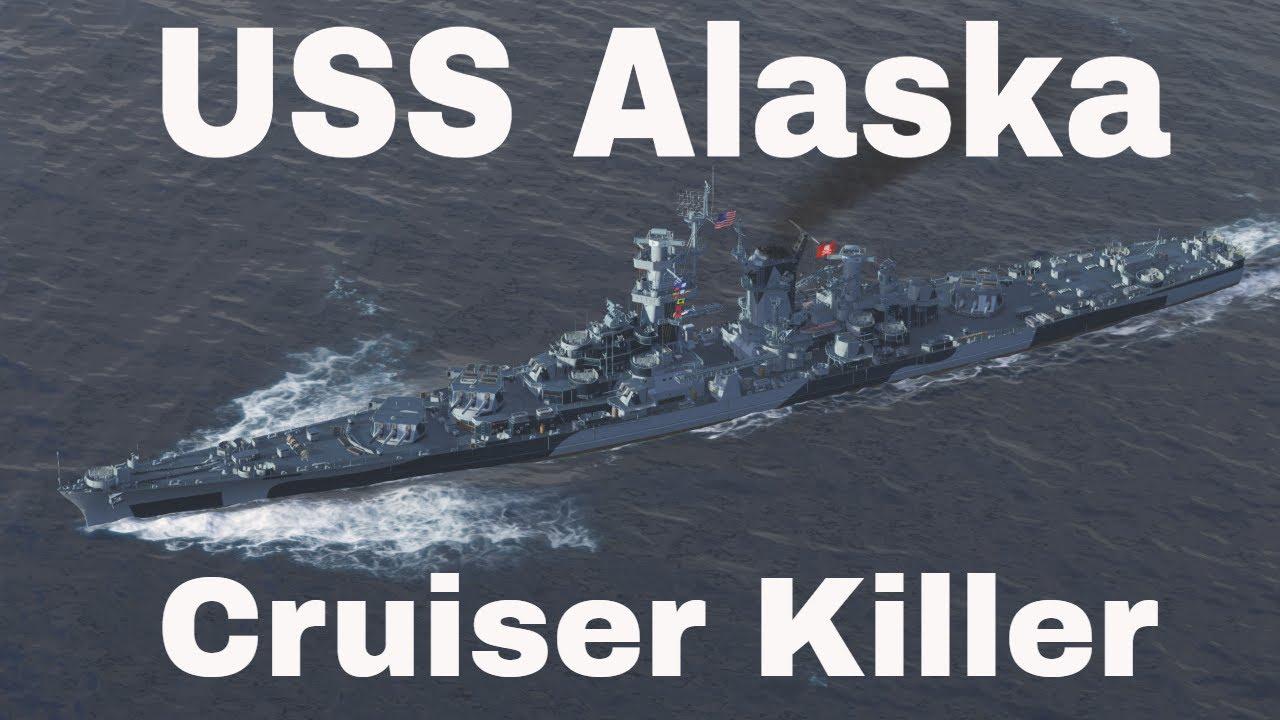 Cruiser Killer Tier 9 Premium USS Alaska Wows Gameplay