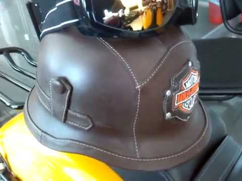 Harley Davidson Brown Leather Helmet With Google Youtube