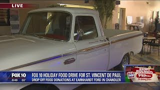 Earnhardt Ford joins FOX 10 Holiday Food Drive, part 1