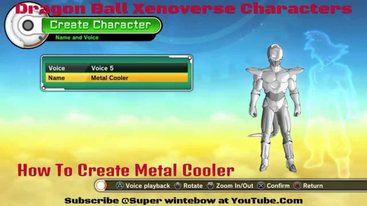 Dragon ball xenoverse character creation how to create metal cooler