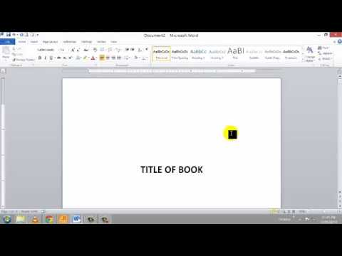 Word 2010 tutorial how to create a table of contents in for Table of contents word