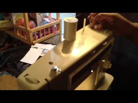 Part 1 How To Wind The Bobbin on the Singer Stylist 513 Sewing Mac