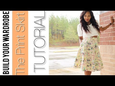 Build Your Wardrobe: The Print Skirt Tutorial + Horse Hair Braid Tutorial