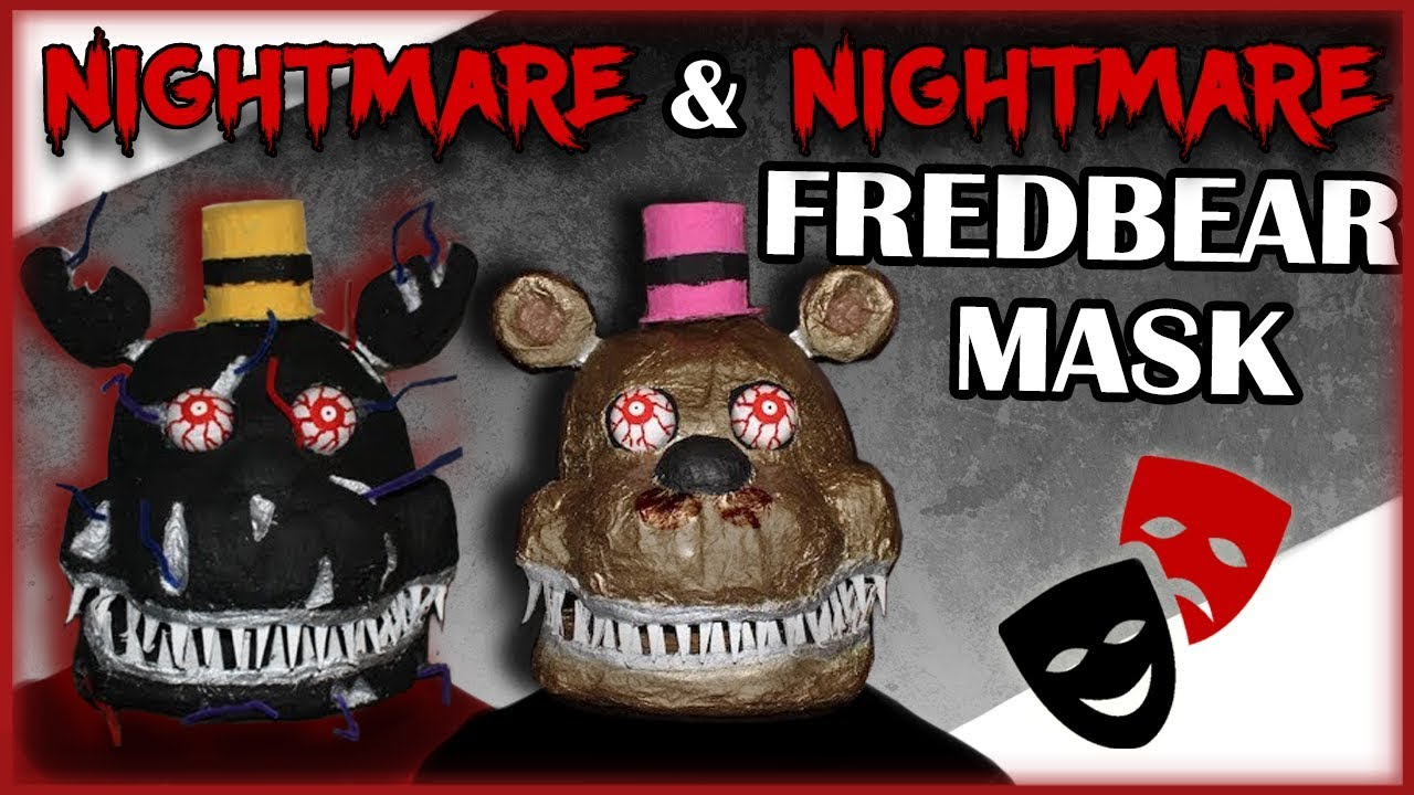 picture relating to Five Nights at Freddy's Printable Mask called How in direction of Crank out: Nightmare Masks (FNAF 4)