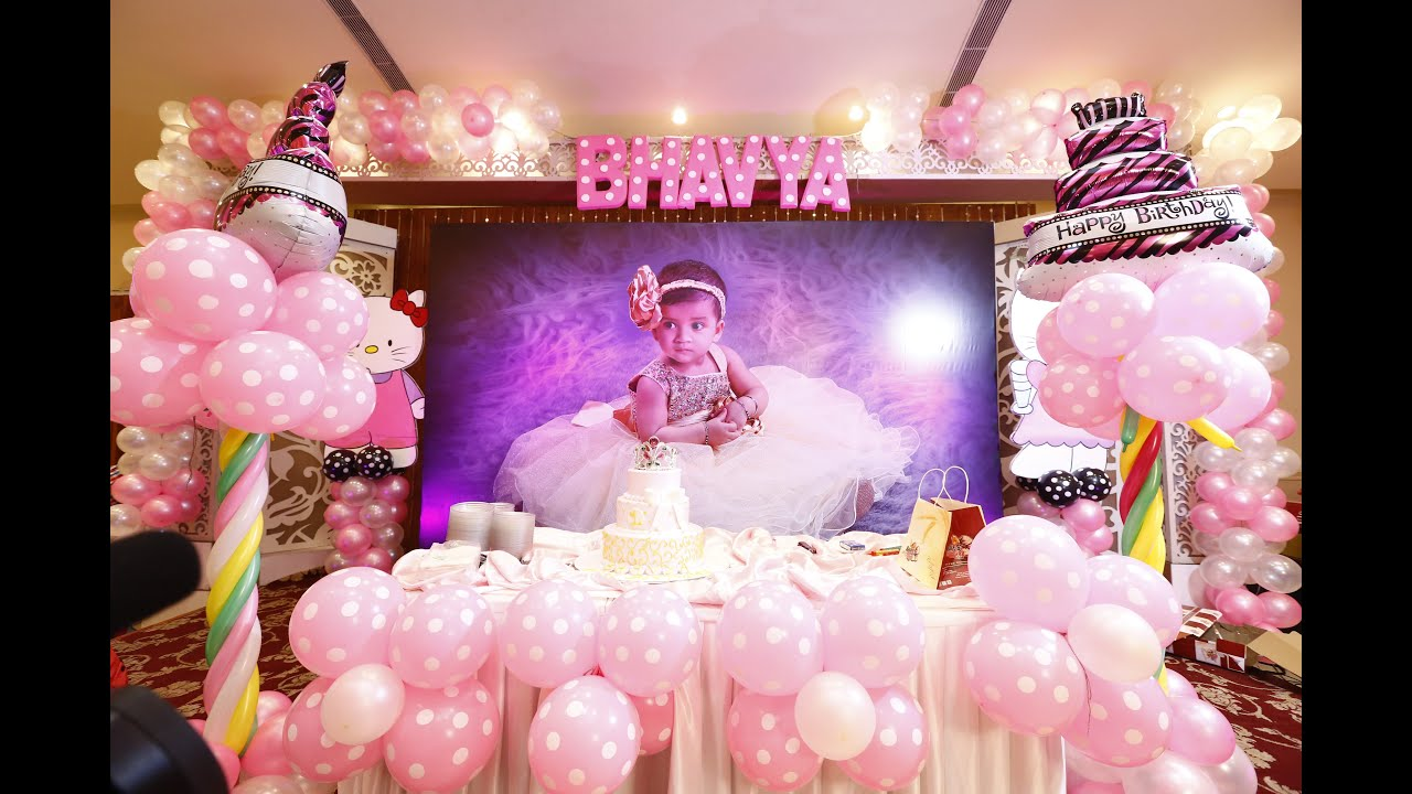 Bhavya 39 s 1st birthday teaser youtube for 1st birthday girl decoration