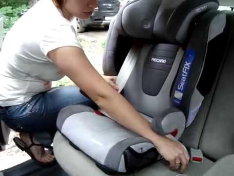 Детское авткоресло RECARO Monza Nova SeatFix изофикс видео инструкция по установке
