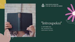 Kebaktian Minggu 27 September 2020 GKJW Jemaat Ngagel
