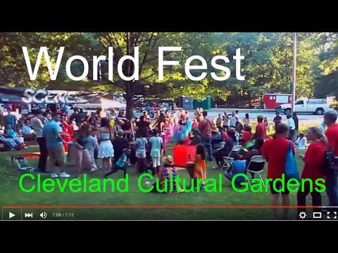 Cleveland World Cultural Gardens Festival August 2015 Parade Parties Food Fest