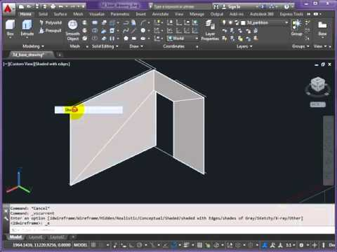 3D AutoCAD   Barcelona Pavilion Model   Part 3