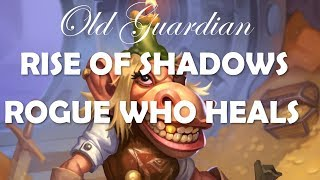 Facing a Rogue who heals (Hearthstone Rise of Shadows gameplay)