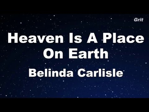 Heaven Is A Place On Earth - Belinda Carlisle Karaoke【With Guide Melody】