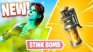 New Fortnite Stink Bomb Gameplay! (Fortnite Battle Royale)