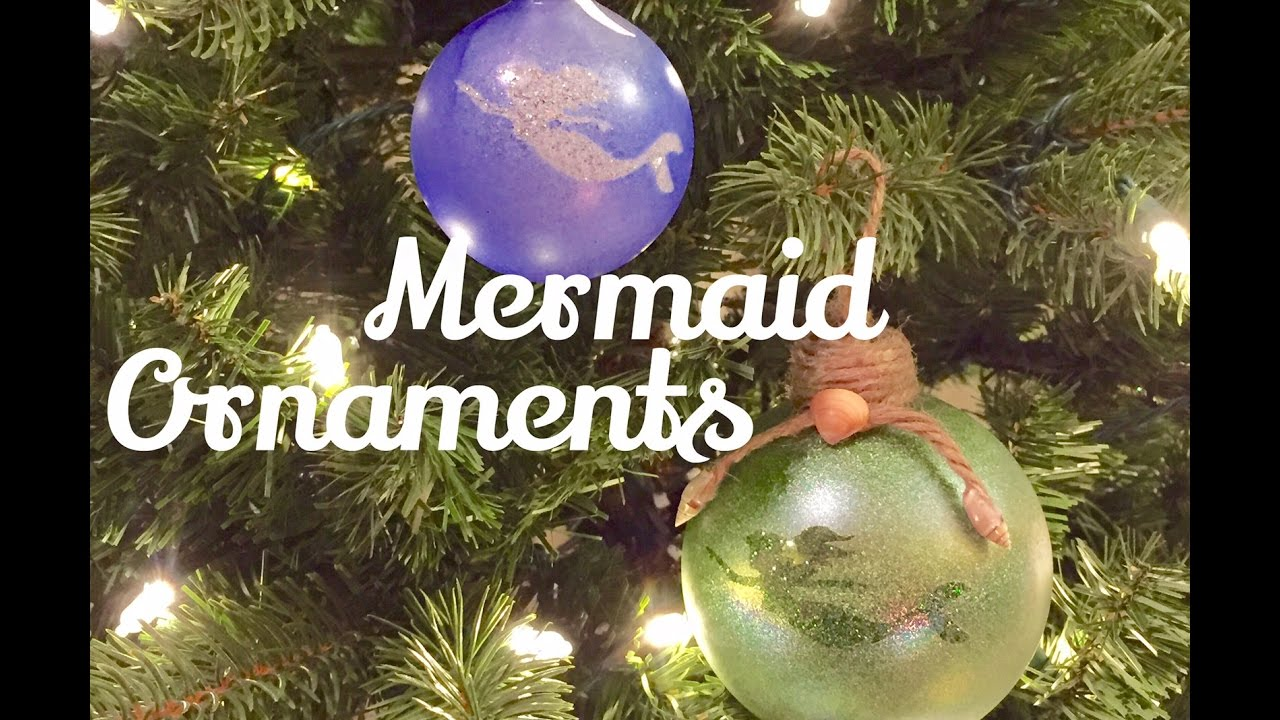 diy mermaid ornaments glitter christmas ornaments