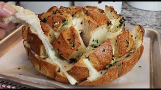 How To Make Pull Apart Garlic Bread   Cheesy Garlic Bread Recipe
