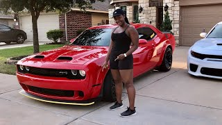 MY WIFE DID HER FIRST MOD TO HER BRAND NEW DODGE CHALLENGER HELLCAT REDEYE