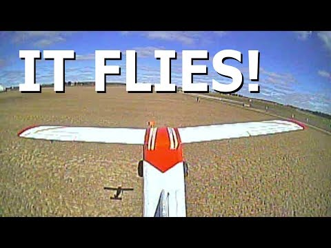 Scratch Built RC Bush Plane - MAIDEN FLIGHT