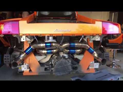 How to remove Pre LP Lamborghini Gallardo bumper & Install Titanium X Pipe