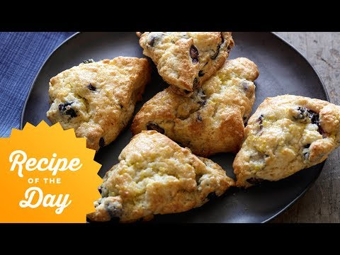 Recipe of the Day: Tyler's Blueberry Scones with Lemon Glaze | Food Network