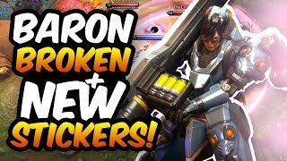 BARON IS BROKEN AND NEW STICKERS - VAINGLORY 5V5 UPDATE 3.5