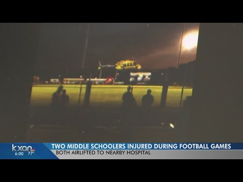 Middle school football players in Del Valle, Elgin injured during games