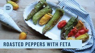 Roasted Peppers Stuffed with Feta Cheese