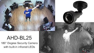 Wide Angle HD Security Camera (180 Degree Lens) 1080p AHD CCTV(http://www.cctvcamerapros.com/BL25 - The AHD-BL25 is a high definition wide angle security camera. This 1080p AHD CCTV camera has a 180 degree lens ..., 2015-12-15T16:29:54.000Z)
