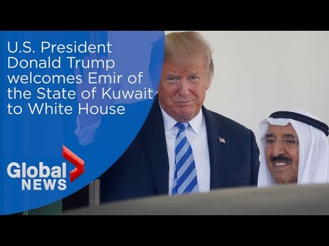 U.S. President Donald Trump welcomes Emir of the State of Kuwait to White House
