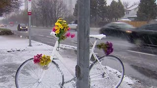 Cyclists honour woman killed in collision