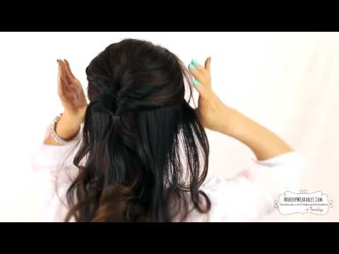 EASIEST PARTY UPDO   EVERYDAY BRAIDED BUN PROM HAIRSTYLES FOR MEDIUM LONG HAIR TUTORIAL