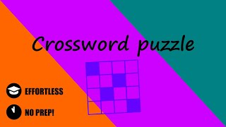 LearnTeachRevise: Crossword puzzle