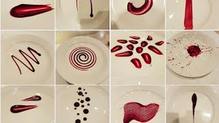 20 Different plating techniques | simple techniques for sauce/gel | art on plate | by Monika Talwar